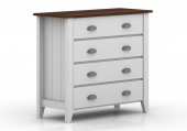 Комод LUANA 4 DRAWER CHEST /5188-2-01 WHITE/3D WALNUT